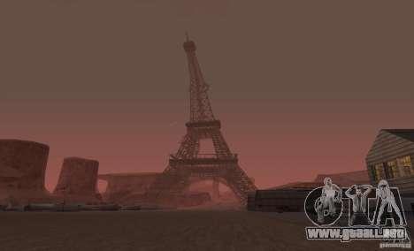 La Torre Eiffel de Call of Duty Modern Warfare 3 para GTA San Andreas segunda pantalla