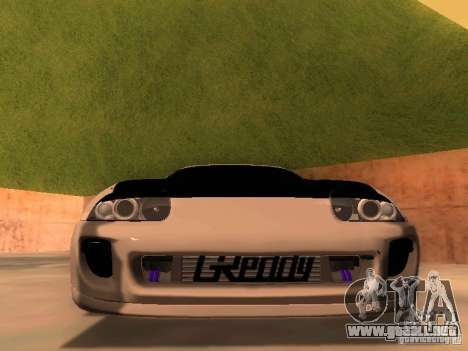 Toyota Supra GTS para GTA San Andreas vista hacia atrás