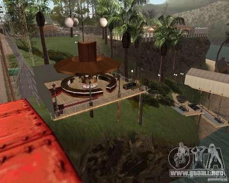 Villa en la Laguna de pesca para GTA San Andreas tercera pantalla