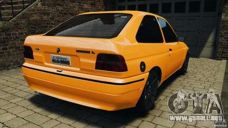 Ford Escort L 1994 Custom para GTA 4 Vista posterior izquierda