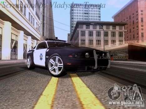 Ford Mustang GT 2011 Police Enforcement para GTA San Andreas left