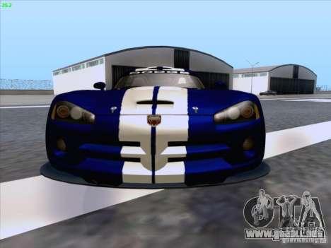 Dodge Viper GTS-R Concept para vista inferior GTA San Andreas