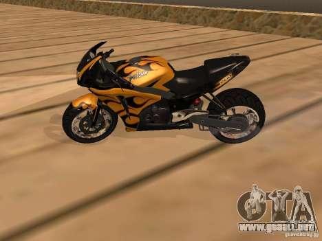 Bajaj Pulsar 620 Custom para la visión correcta GTA San Andreas
