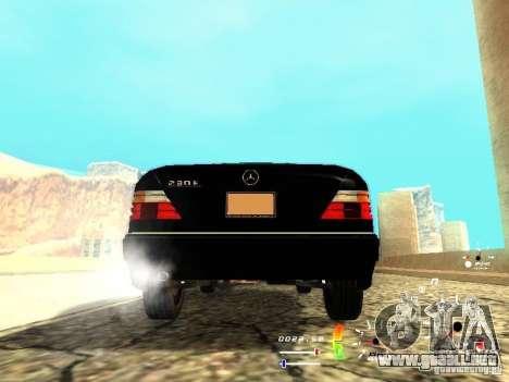 Mercedes-Benz 230E para GTA San Andreas vista posterior izquierda