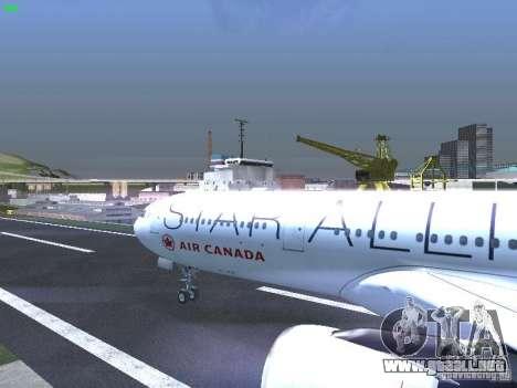 Airbus A330-300 Air Canada para visión interna GTA San Andreas