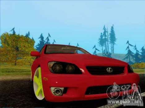 Lexus IS300 Edit para GTA San Andreas left