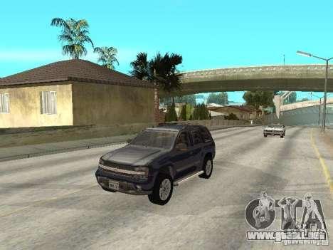 Chevrolet TrailBlazer 2003 para visión interna GTA San Andreas