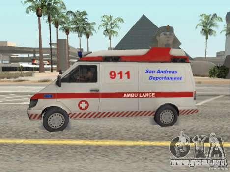 Ford Transit Ambulance para GTA San Andreas left