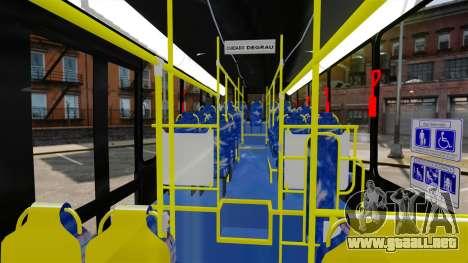 Busscar Urbanuss Pluss 2009 Le VIP Itaim Paulist para GTA 4 vista hacia atrás