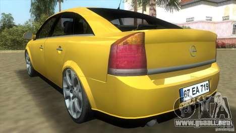 Opel Vectra para GTA Vice City visión correcta