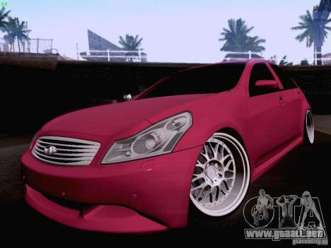Infiniti G37 Sedan para vista inferior GTA San Andreas
