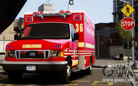 Ford Econoline E350 Ambulance para GTA 4 left