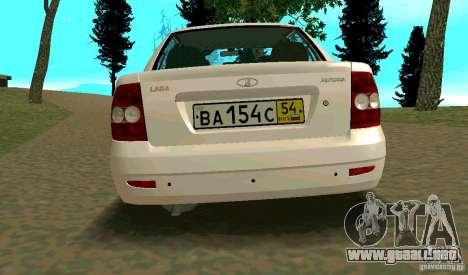 Vaz-2170 para la visión correcta GTA San Andreas