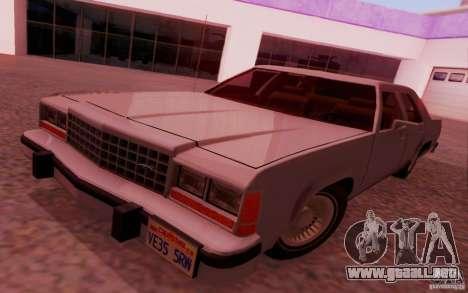 Ford Crown  Victoria LTD 1985 para GTA San Andreas vista posterior izquierda