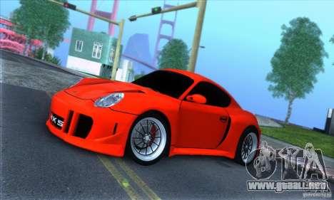 Porsche Cayman S v2 para GTA San Andreas left