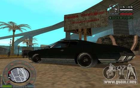 New Sabre para visión interna GTA San Andreas