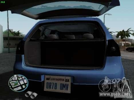 Volkswagen Golf V R32 Black edition para visión interna GTA San Andreas