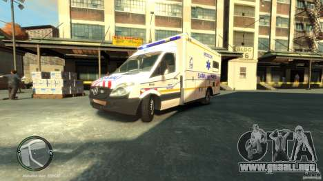 Mercedes-Benz Sprinter Ambulance para GTA 4 left