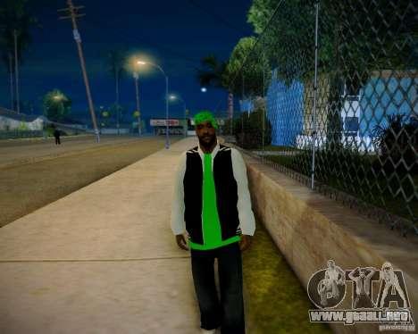 Skins pack gang Grove para GTA San Andreas sucesivamente de pantalla