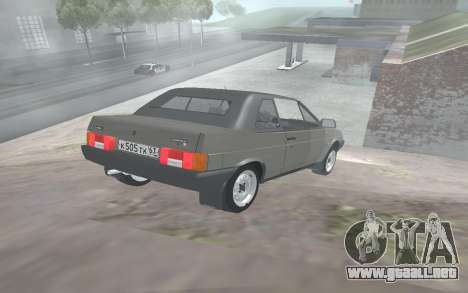 VAZ 2108 Natasha para GTA San Andreas vista posterior izquierda