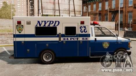 Nueva policía van para GTA 4 left