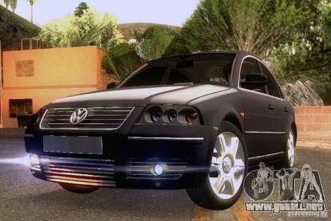 Volkswagen Passat B5+ para vista inferior GTA San Andreas