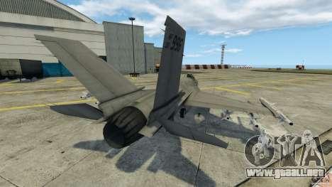 Fighterjet para GTA 4 Vista posterior izquierda
