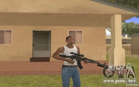 AK 103 para GTA San Andreas sucesivamente de pantalla