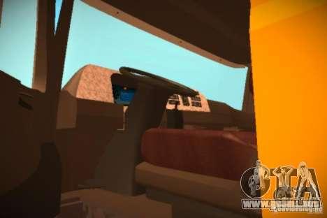 Mercedes Benz Actros Basura IM Santiago para GTA San Andreas vista hacia atrás