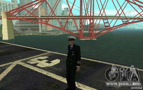 Admiral HD para GTA San Andreas quinta pantalla