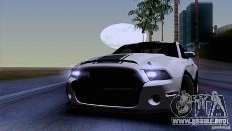 Ford Shelby GT500 Super Snake para visión interna GTA San Andreas