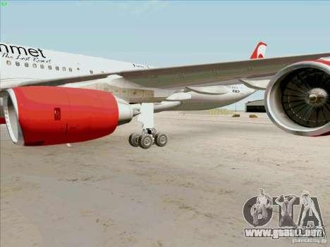 Airbus A-340-600 Plummet para visión interna GTA San Andreas