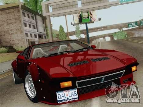 De Tomaso Pantera GT4 para el motor de GTA San Andreas