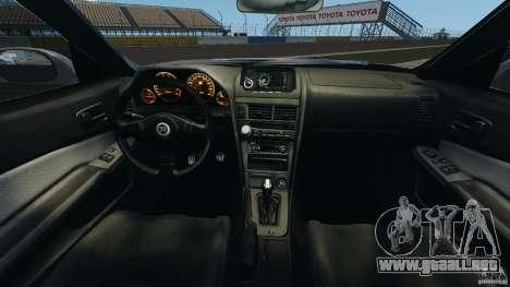 Nissan Skyline GT-R R34 para GTA 4 vista hacia atrás