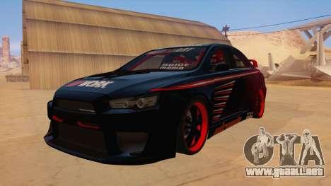 Mitsubishi Lancer Evolution X Pro Street para GTA San Andreas