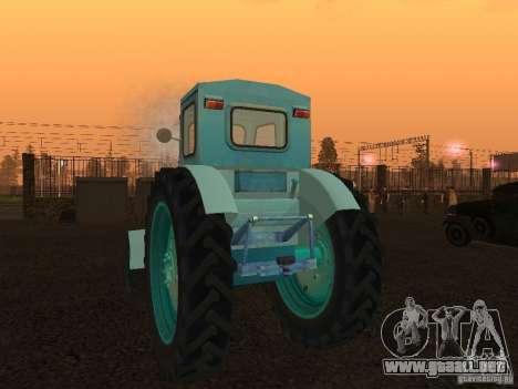 Tractor T-40 m para GTA San Andreas vista posterior izquierda