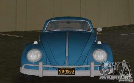 Volkswagen Beetle 1963 para GTA Vice City left
