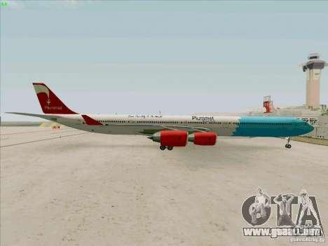 Airbus A-340-600 Plummet para la visión correcta GTA San Andreas