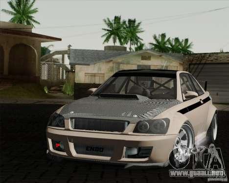 GTAIV Sultan RS FINAL para GTA San Andreas vista posterior izquierda
