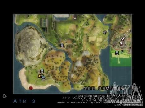 Playa večirinka para GTA San Andreas sucesivamente de pantalla
