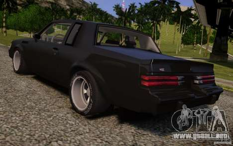 Buick Regal Grand National 1987 para GTA 4 left
