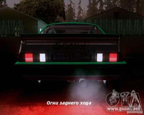 Opel Manta 400 para GTA San Andreas interior