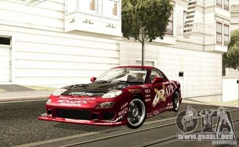 Mazda RX-7 C-West para GTA San Andreas vista hacia atrás