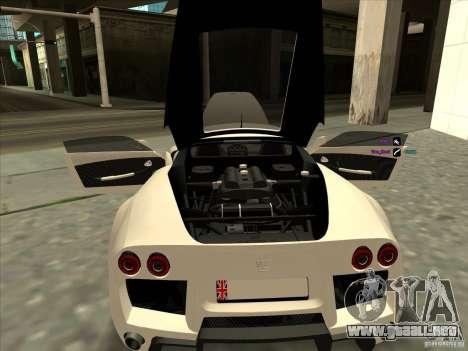 Noble M600 para GTA San Andreas vista hacia atrás