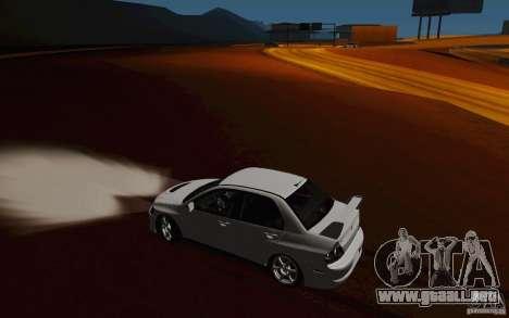 Mitsubishi Lancer Evo VIII GSR para vista lateral GTA San Andreas