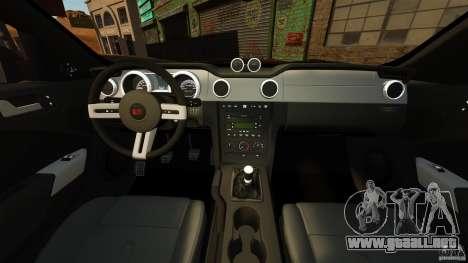Saleen S281 Extreme v1.5 para GTA 4 vista hacia atrás