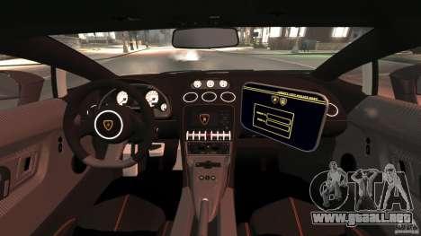 Lamborghini Gallardo LP570-4 Superleggera Police para GTA 4 vista hacia atrás