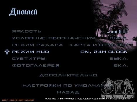 formato de 12/24 horas para GTA San Andreas segunda pantalla