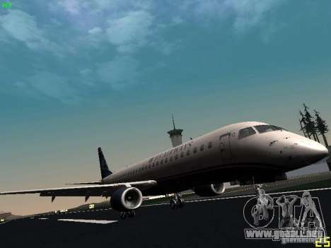 Embraer ERJ 190 USAirways para GTA San Andreas left