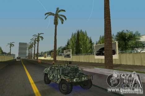 Hummer HMMWV M-998 1984 para GTA Vice City vista posterior